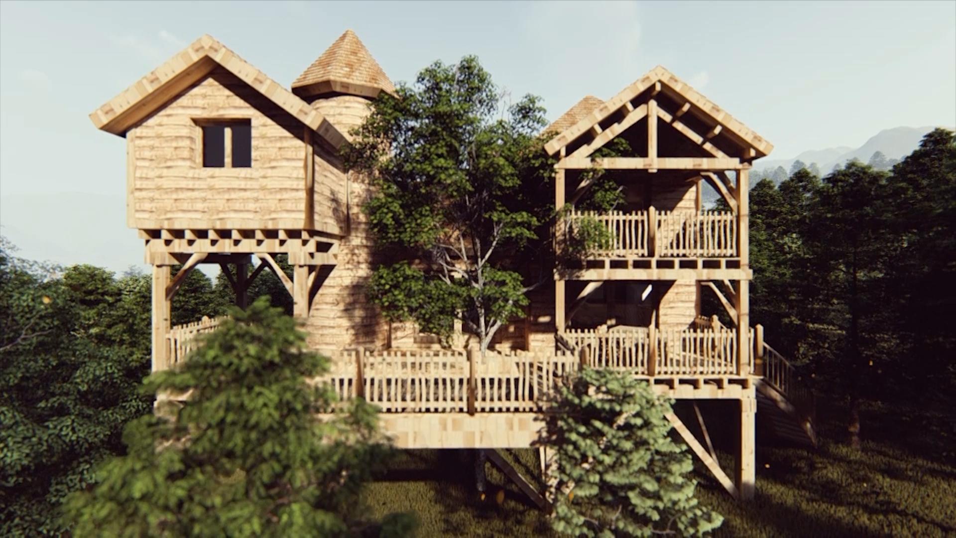 Cabanes Châteaux dans les Arbres - Le Peydébé