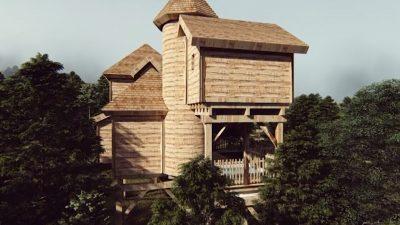 cabane chateau dans les arbres